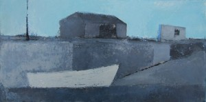 'Boathouse Winter Pier' by Cormac O'Leary at the Chimera Gallery, Mullingar, Co Westmeath, Ireland