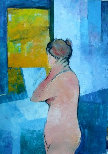 'Summer Bather' by Cormac O'Leary at the Chimera Gallery, Mullingar, Co Westmeath , Ireland