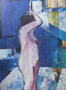 'Figure at Night' by Cormac O'Leary at the Chimera Gallery, Mullingar, Co Westmeath , Ireland