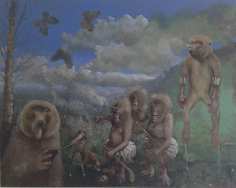 """Primate Festival"" by Philip Lindey at the Chimera Gallery, Mullingar, Co Westmeath"
