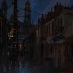 'Mary Street Mullingar' by Dave West at the chimera Gallery, Mullingar, Co Westmeath, Ireland.
