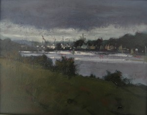 'Boyne River' by Dave West at the Chimera Gallery., Mullingar, Co Westmeath , Ireland