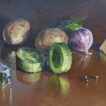 'Potato and Leek' by Dave West at the Chimera Gallery., Mullingar, Co Westmeath , Ireland