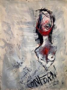 Khara Oxier at the Chimera Gallery, Mullingar, Co Westmeath, Ireland