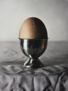 'Egg that will never hatch' by Catherine Creaney at the Chimera Gallery, Mullingar, Co Westmeath , Ireland