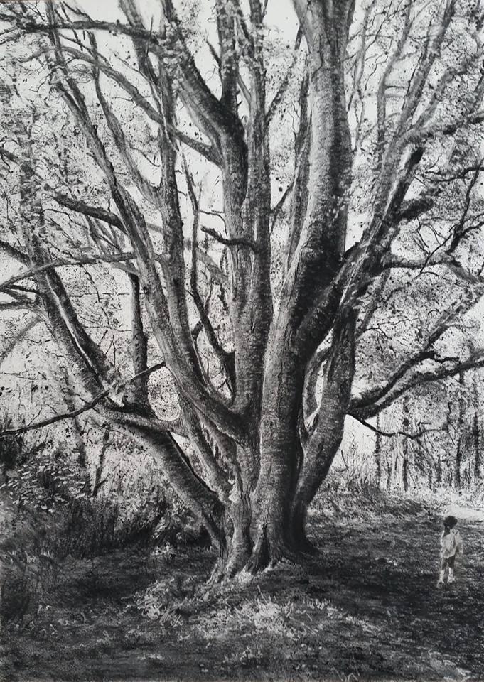 """Memory Tree"" by Michael Wann at the Chimera Gallery, Mullingar, County Westmeath Ireland"