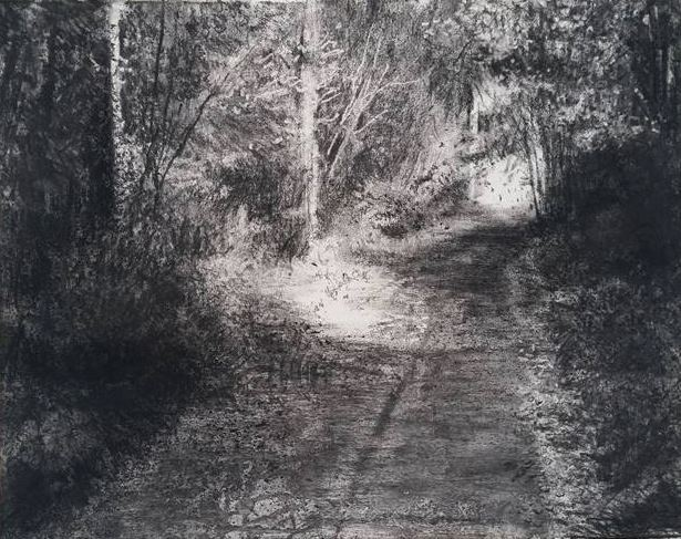 """ Sunday Walking"" (iii) by Michael Wann at the Chimera gallery, Mullingar, Co Westmeath , Ireland."