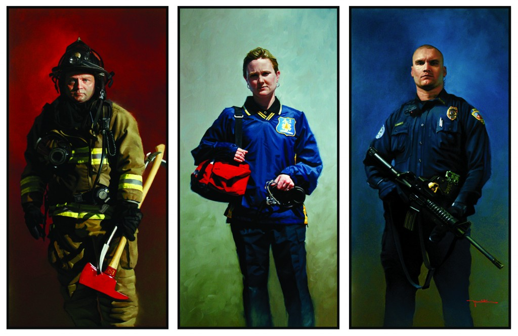 """American Heroes""by Mike Hamblin at the Chimera Gallery,Mullingar,Co Westmeath,Ireland."