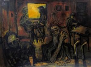 'Melting into the bar' by Glenn Brady at the Chimera Gallery,Mullingar,Co Westmeath, Ireland