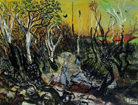 'After the bush fire' by Glenn Brady at the Chimera Gallery, Mullingar, Co Westmeath, Ireland.