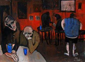 'In the bar' by Glenn Brady at the Chimera Gallery, Mullingar, Co Westmeath, Ireland.