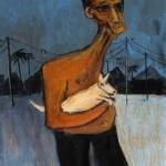 """Old bloke with dog"" By Glenn Brady at the Chimera Gallery, Mullingar, Co Westmeath, Ireland"