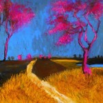 """'Two pink with Blue"""" by Glenn Brady at the Chimera Gallery, Mullingar, Co Westmeath, Ireland"""