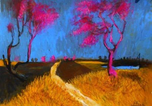"'Two pink with Blue"" by Glenn Brady at the Chimera Gallery, Mullingar, Co Westmeath, Ireland"