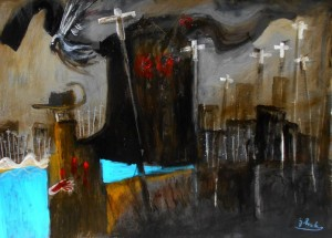 'Anzac at the Beach' by Glenn Brady at the Chimera Gallery, Mullingar, Co Westmeath , Ireland