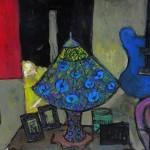'KImino,lamp and guitar' by Glenn Brady at the Chimera Gallery, Mullingar,Co Westmeath,Ireland.
