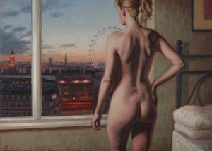 """morning in the city"" by Stuart Luke Gatherer at the Chimera Gallery, Mullingar, Co Westmeath, Ireland"