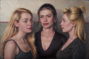 'Three Girls' by Stuart Luke Gatherer at the Chimera Gallery, Mullingar , Co Westmeath, Ireland