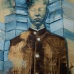'Portrait of a blue man' by Shane Berkery at the Chimera Gallery, Mullingar , Co Westmeath, Ireland