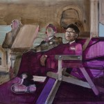 ' Recline between Violet and brown' by Shane Berkery at the Chimera Gallery, Mullingar, Co Westmeath, Ireland