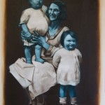 """Two kids and a lady"" by Shane Berkery at the Chimera Gallery, Mullingar, Co Westmeath , Ireland"
