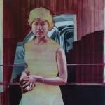 """Woman and car"" by Shane Berkery at the Chimera Gallery, Mullingar, Co Westmeath , Ireland"