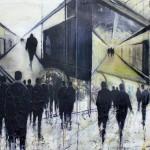'Below Ground Paddington' by Lesley Oldaker at the Chimera Gallery, Mullingar , Co Westmeath, Ireland.
