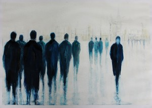 'Self acceptance' (ii) by Lesley Oldaker at the Chimera Gallery, Mullingar , Co Westmeath, Ireland.