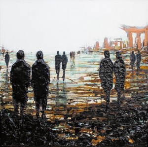 'Urban Remains' by Lesley Oldaker at the Chimera Gallery, Mullingar , Co Westmeath, Ireland.