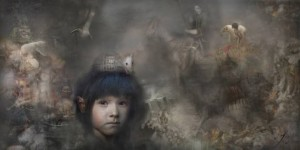 """The boy"" Journal series by Iva Troj at the chimera gallery, Mullingar, Co Westmeath, Ireland"