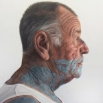 'Man with green paint on face' by Kyle Barnes at the Chimera Gallery, Mullingar, Co Westmeath, Ireland