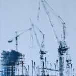'Building Site V' by Helen Shulkin at the Chimera Gallery, Mullingar, Co Westmeath, Ireland.