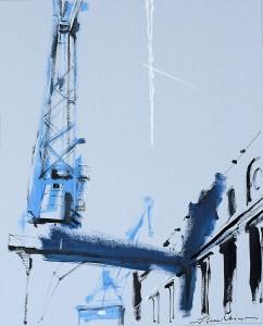 'Maritime Crane IV' by Helen Shulkin at the Chimera Gallery, Mullingar, Co Westmeath, Ireland.