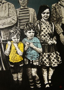 'At the Finish Line' by Lorcan Vallely at the Chimera gallery, Mullingar, Co Westmeath, Ireland.