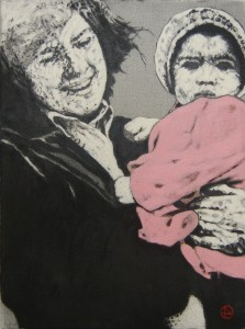 'Dressed in Pink' by Lorcan Vallely at the Chimera gallery, Mullingar, Co Westmeath, Ireland.
