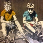 'On the Go Karts' by Lorcan Vallely at the Chimera gallery, Mullingar, Co Westmeath, Ireland.