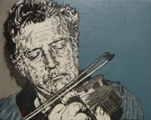 'Tyrone Fiddler' by Lorcan Vallely at the Chimera gallery, Mullingar, Co Westmeath, Ireland.