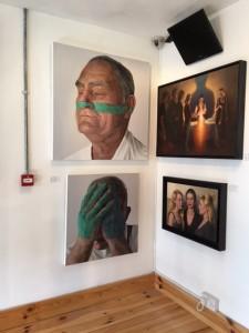 Kyle Barnes and Stuart Luke Gatherer at the Chimera Gallery, Mullingar , Co Westmeath, Ireland