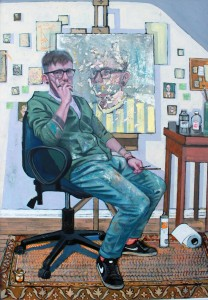 Tom McLean at the Chimera Gallery, Mullingar, Co Westmeath , Ireland