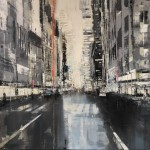 'Silver New York (i) by Jose Martinez at the Chimera Gallery, Mullingar, Co Westmeath, Ireland