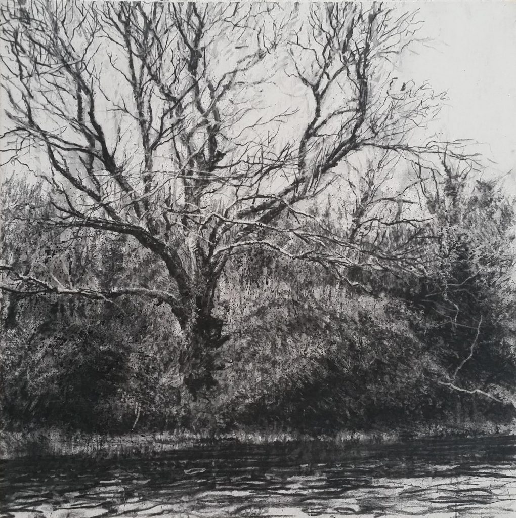 'Riverside' by Michael Wann at the Chimer Gallery , Mullingar , Co Westmeath, Ireland