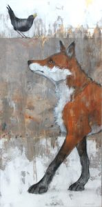 'Fox and Crow' by Sylvia Parkinson Brown at the Chimera Gallery, Mullingar, Co Westmeath, Ireland.