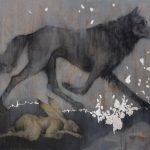 'Wolf and Hare' by Sylvia Parkinson Brown at the Chimera Gallery, Mullingar, Co Westmeath, Ireland.
