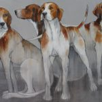 'Hounds' by Sylvia Parkinson Brown at the Chimera Gallery, Mullingar, Co Westmeath, Ireland.