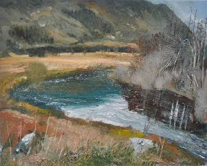 'River at Coppal' by Neal Greig at the Chimera Gallery, Mullingar, Co Westmeath, Ireland