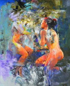 'Nudes Painting' by Sorin Dumitrescu at the Chimera Gallery, Mullingar, Co Westmeath, Ireland