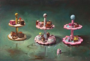'Big toy cakes' by Dave West at the Chimera Gallery, Mullingar, Co Westmeath