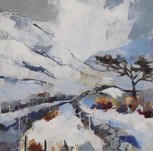 'Winter Landscape' by Bridget Flinn at the Chimera Gallery, Mullingar, Co Westmeath, Ireland