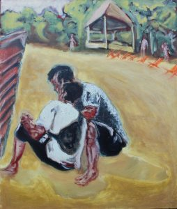 'Men on the Beach at Koh Chang' by Connor Robertson at the Chimera Gallery , Mullingar, Co Westmeath, Ireland