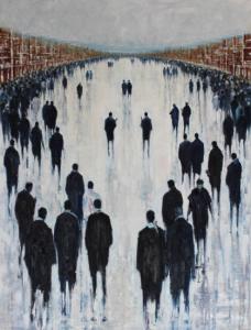 'Meeting Point' by Lesley Oldaker at the Chimera Gallery , Mullingar, Co Westmeath, Ireland